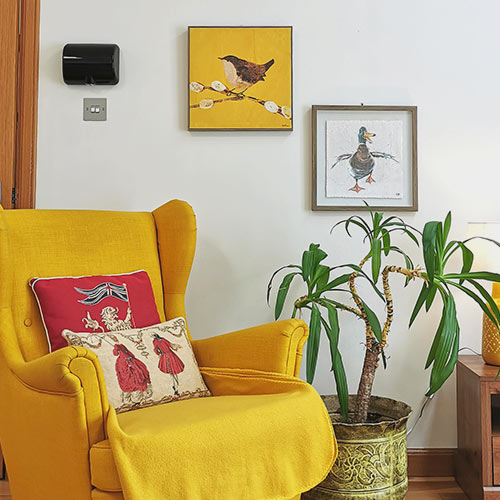 Glenview cottages north cottage yellow armchair