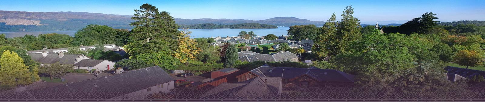 Birds eye view of Luss Town